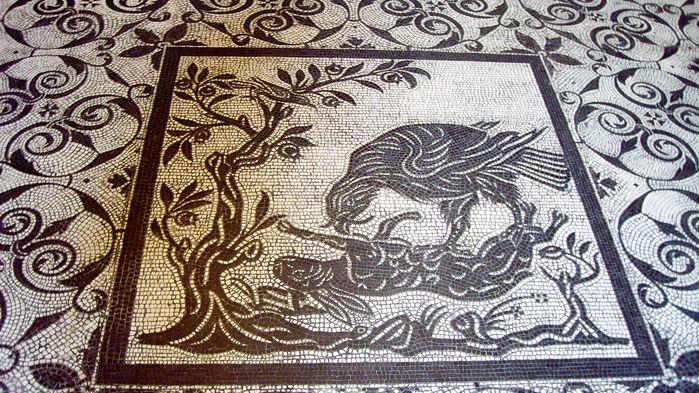 mosaik från vatikanmuseet