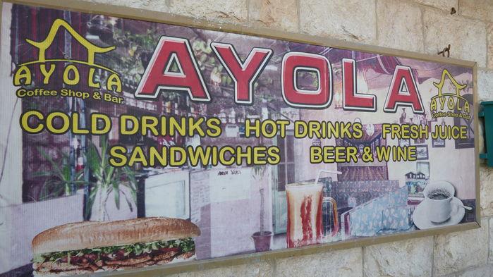 reklamskylt om restaurang