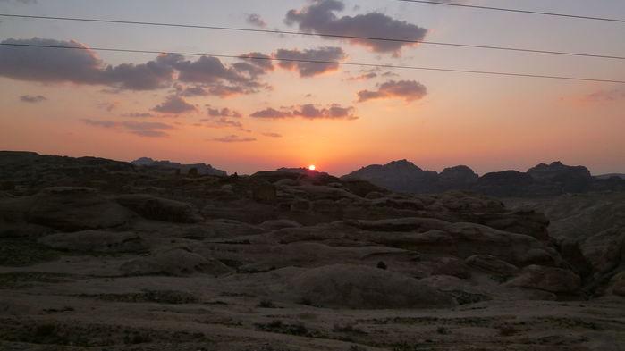 solnedgång i Petra