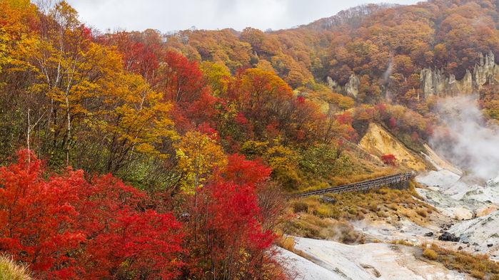 Höst i Djävulsdalen, Hokkaido