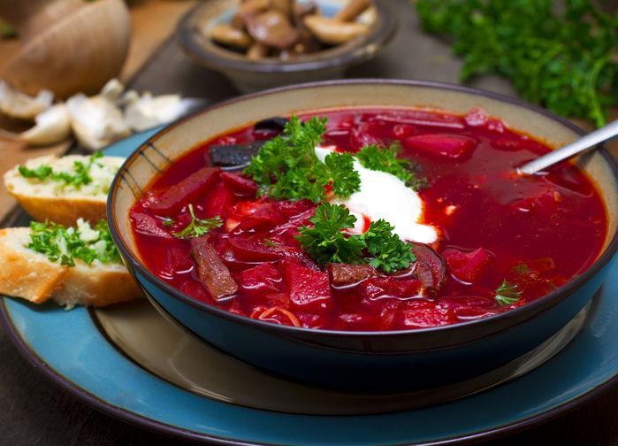 Borscht, rysk rödbetssoppa