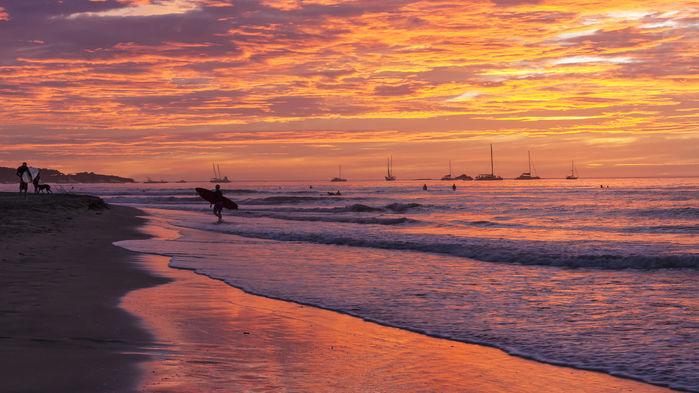 Tamarindo beach solnedgång
