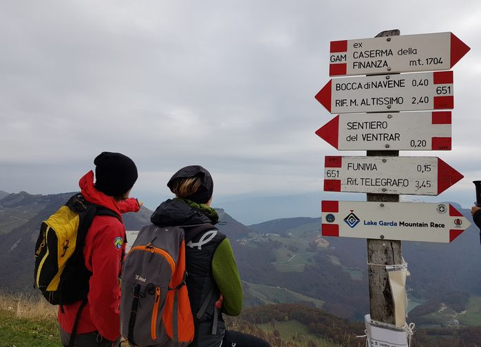 Vandringsskyltar på Monte Baldo