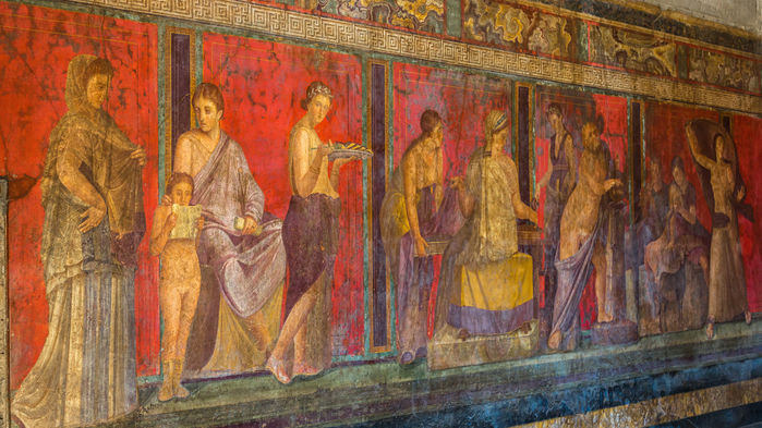 Pompejis freskomålningar