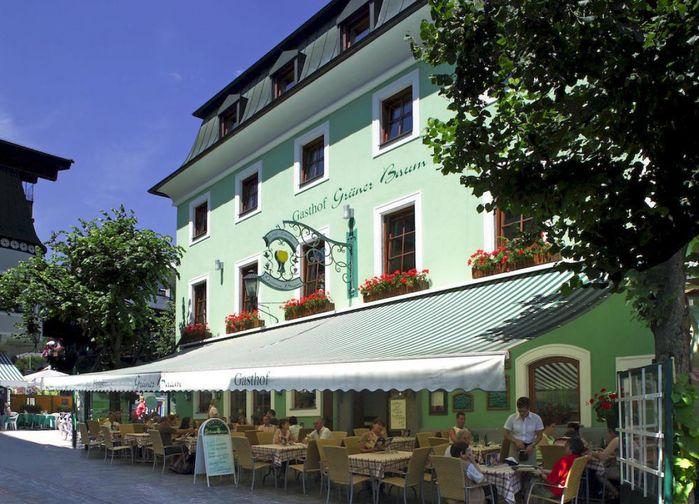 Hotel Grüner Baum*** ligger centralt och nära den kristallklara sjön Zeller See.
