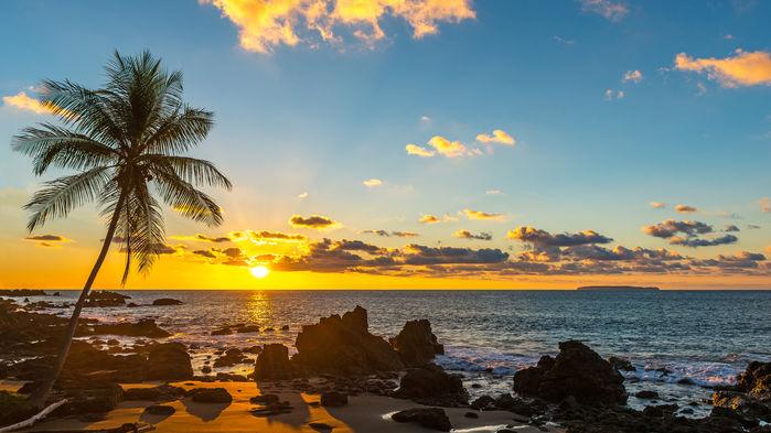 solnedgång över tamarindo