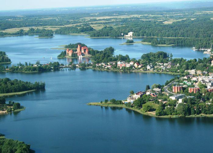 Vy över Trakai