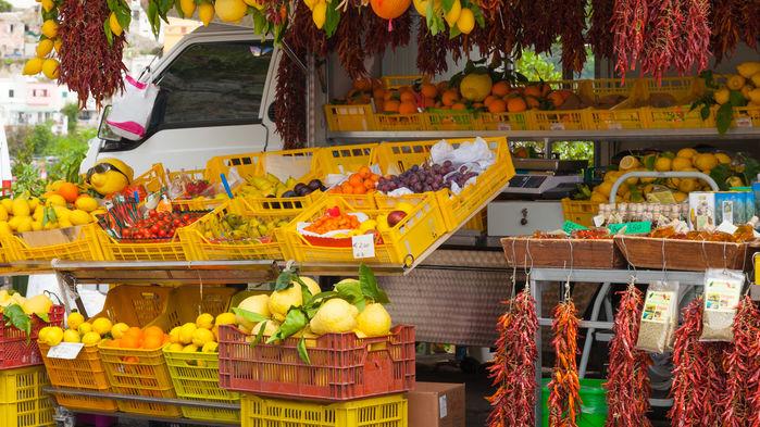Marked i Sorrento