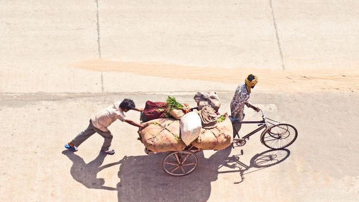 cykelrickshaw i Delhi