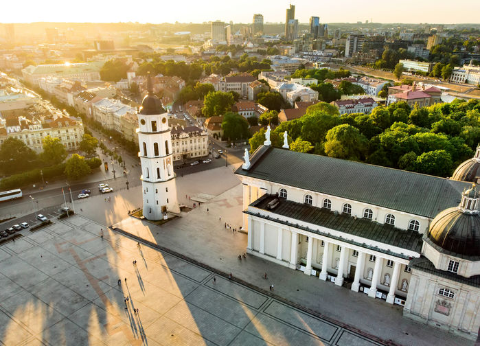 The Cathedral Square i Vilnius