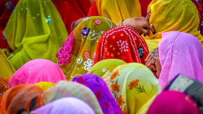 Indiska kvinnor i Rajastan
