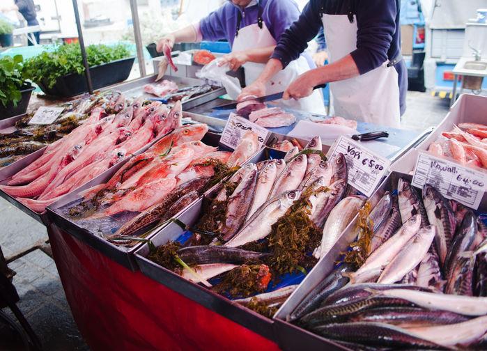 Fiskmarknad i Marsaxlokk