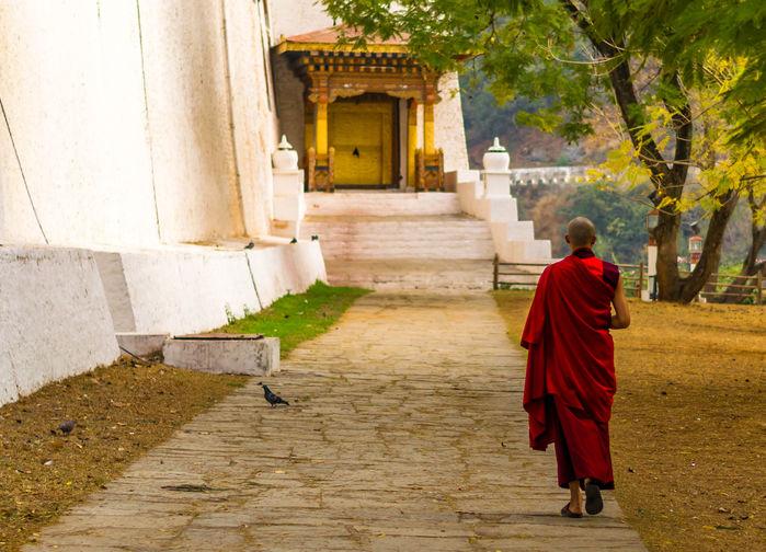 Munk vid Punakha Dzong
