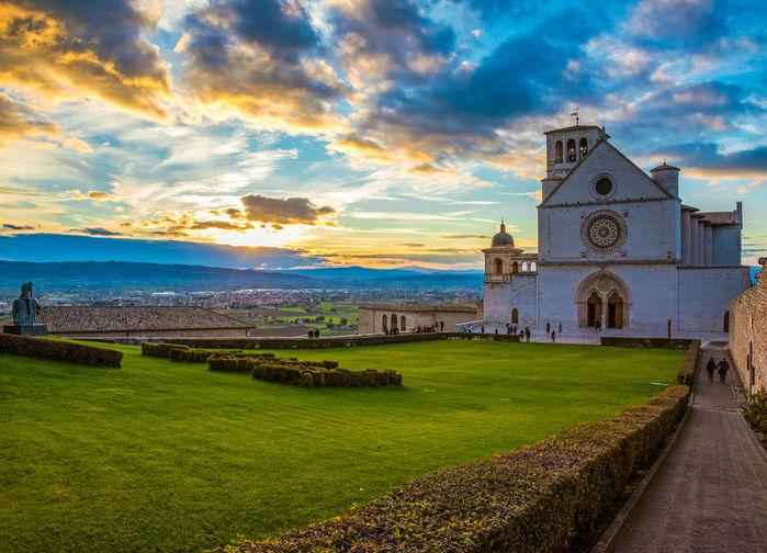 Utsikt över Assisis dal