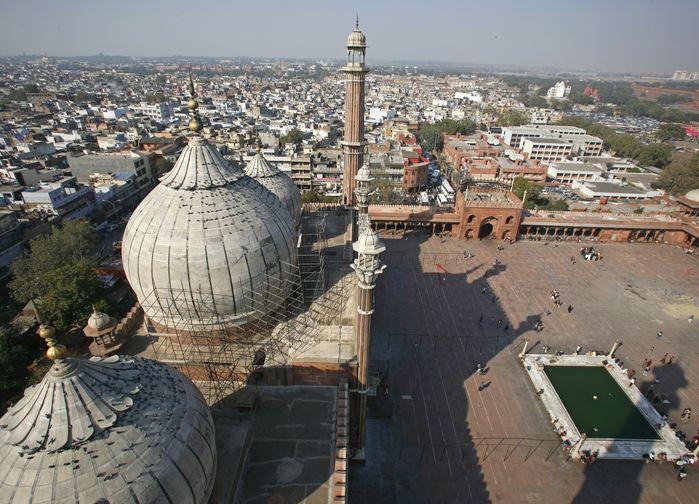 Vy över Paharganj, Delhi