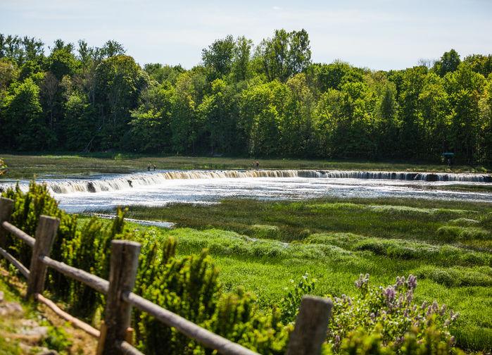 Europas bredaste vattenfall finner vi i Kuldiga