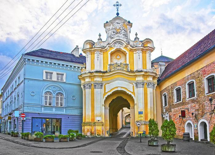 Vacker arkitektur i Vilnius