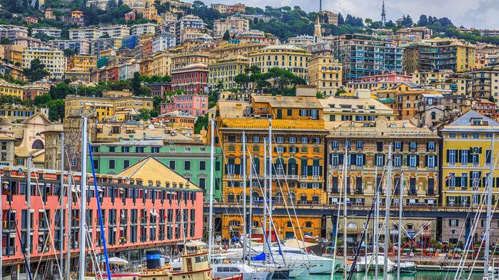 Hamnen i Genova