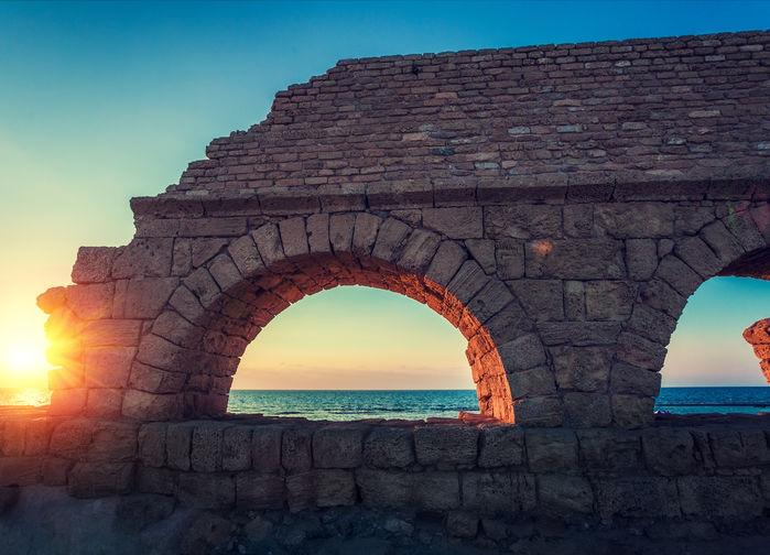 Solnedgång i Caesarea