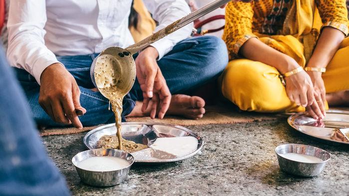 bespisning i sikh templet