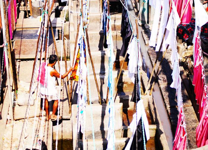 Dhobi ghat tvättlinor