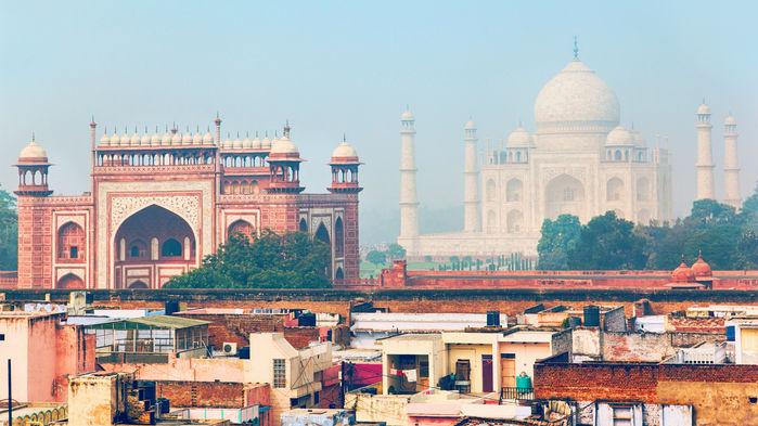 Taj Mahal på avstand