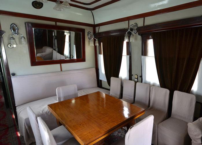 Stalins privata tågvagn. Stalinmuseet i Gori.