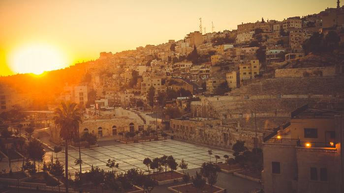 solnedgång över Amman