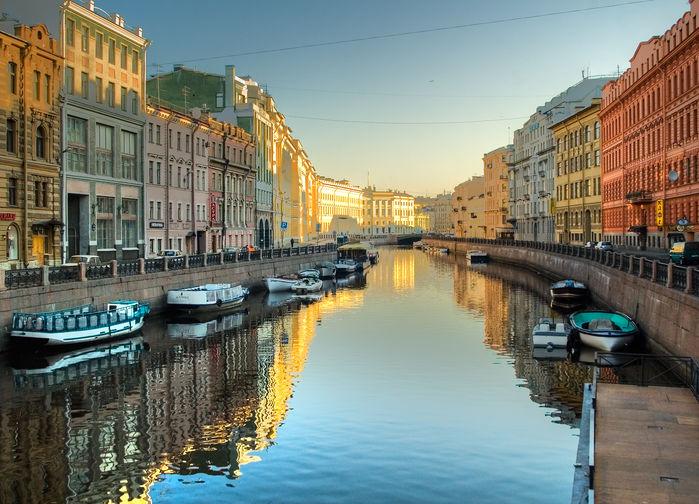 Tidig morgon i St Petersburg