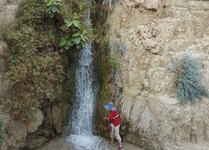 Vattenfall vid Ein Gedi